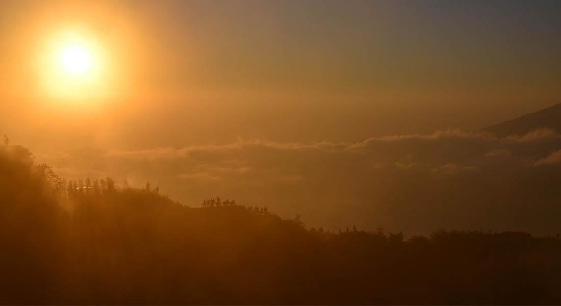 Izlazak sunca na vulkanu Batur