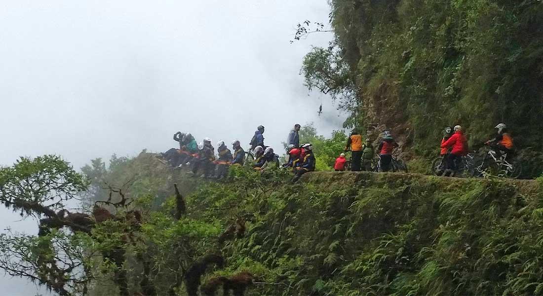 Vožnja biciklom po cesti smrti u Boliviji
