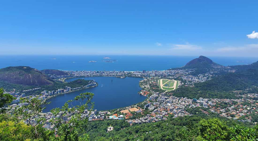 Pogled na jezero Rodrigo de Freitas u Riu