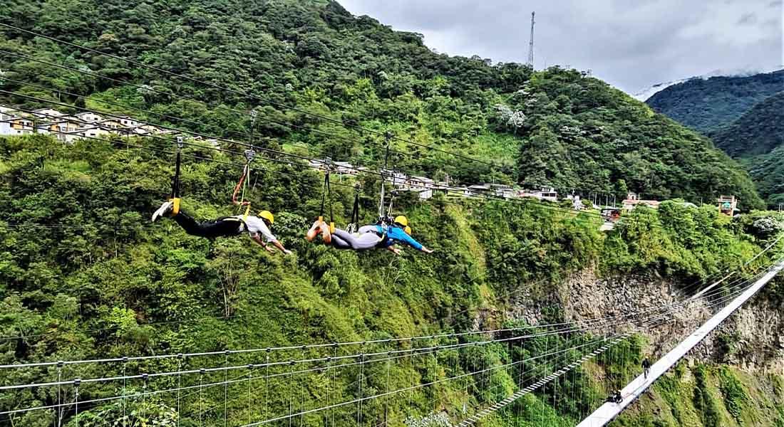 Zip Line u Ekvadoru