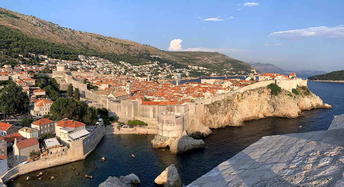 Pogled na Dubrovnik s tvrđave Lovrjenac