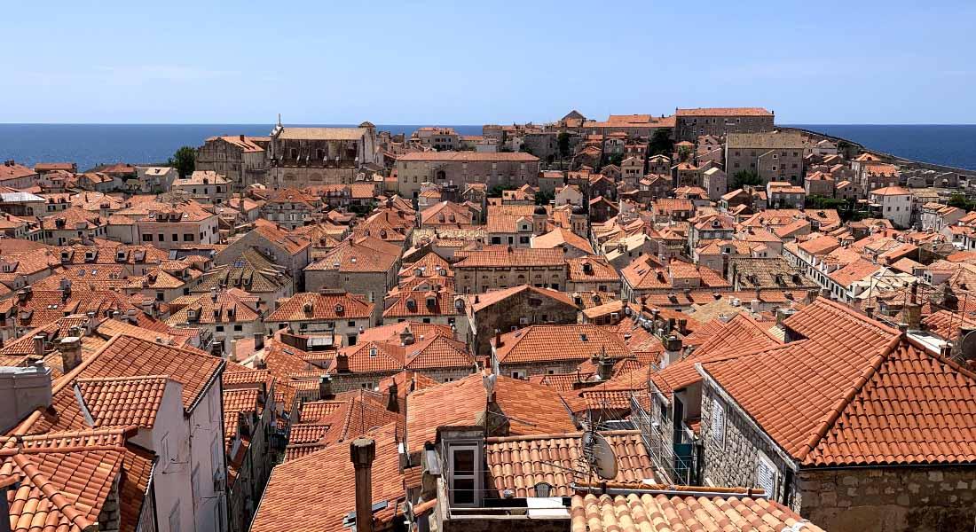 Pogled na Dubrovnik od Minčete