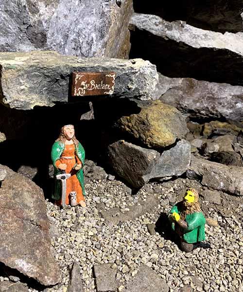 Sveta Barbara u rudniku