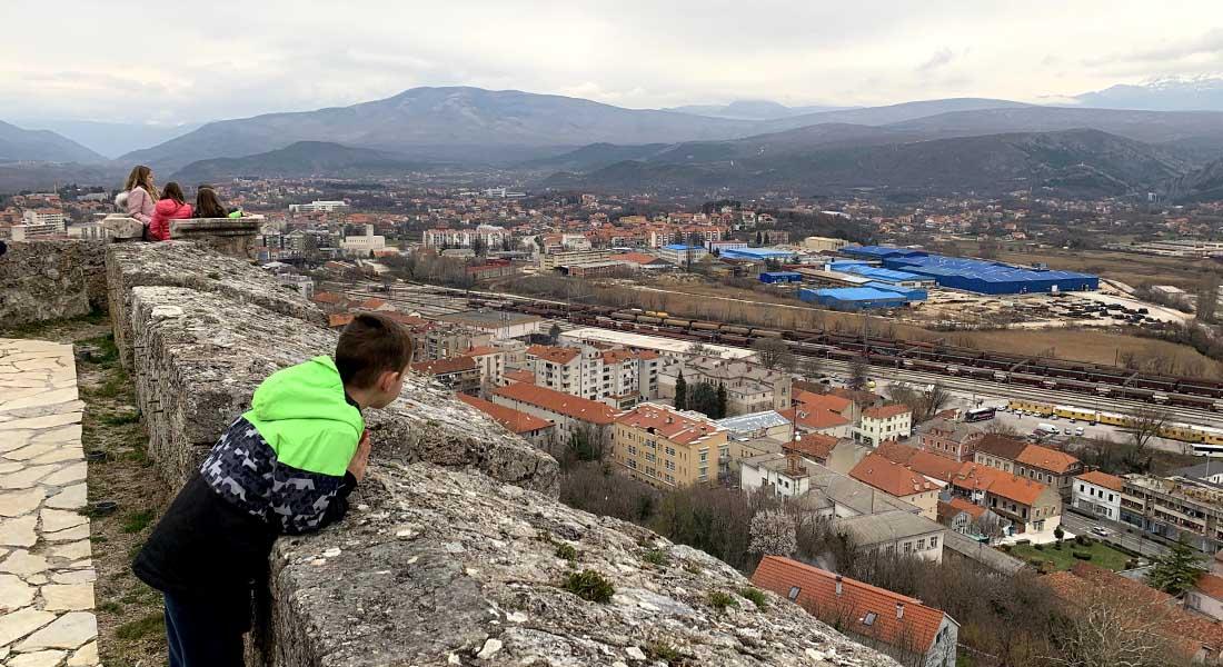 Pogled na slap Krčić s Kninske tvrđave