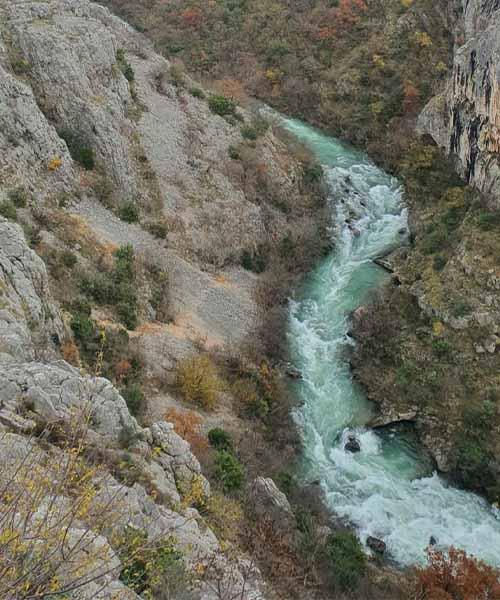 Rijeka Čikola u Nacionalnom parku Krka