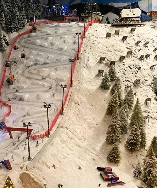 Maketa sljemenskog skijališta