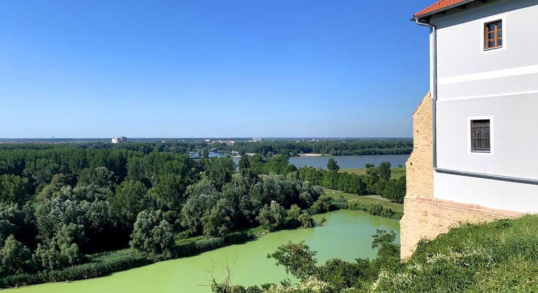 Pogled iz Iloka na Dunavac i Dunav