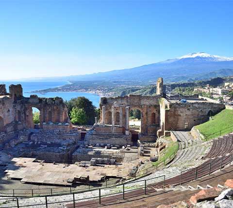 Taormina na Siciliji, turistička atrakcija od 19. stoljeća