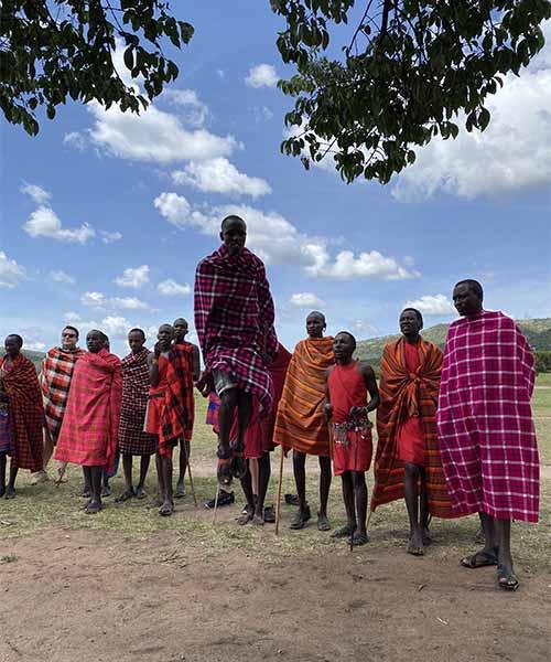 Ples plemena Maasai u Keniji