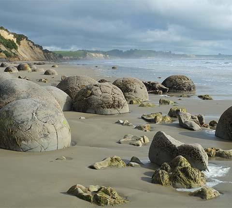Kuglaste gromade Moeraki na Novom Zelandu