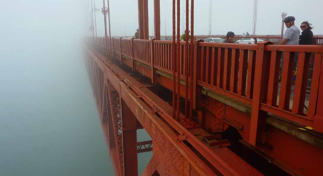 Golden Gate Bridge u magli