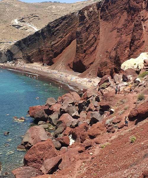 Crvena plaža na Santoriniju