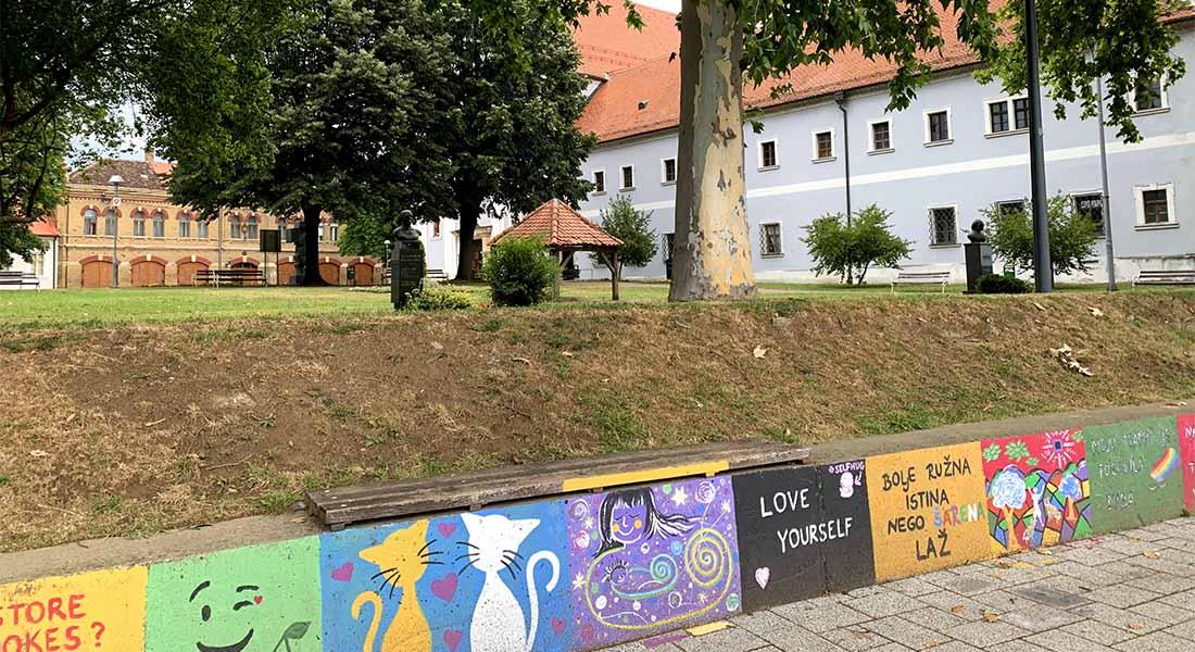 Grafiti na keju u Slavonskom Brodu