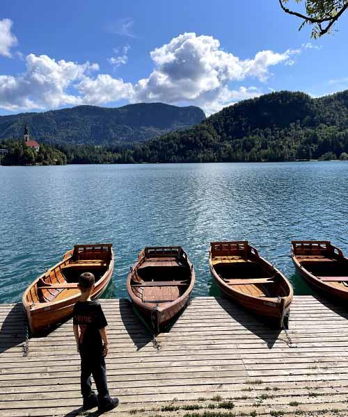 Čamci na Bledu