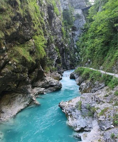 Dolina rijeke Soče, kanjon Tolminke
