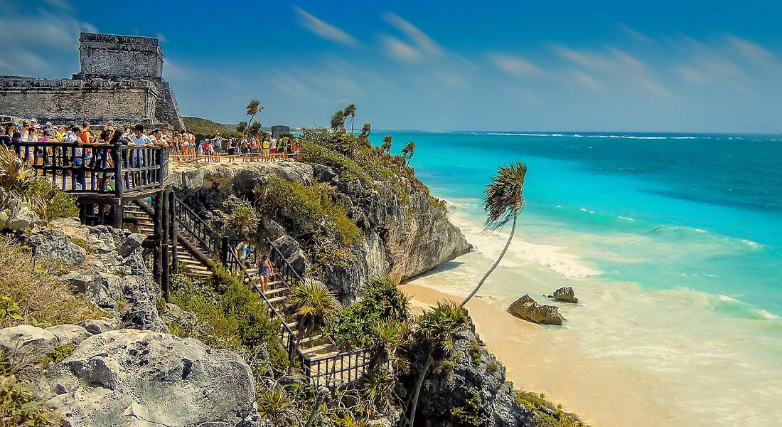 Grad Tulum i pješčana plaža na Karipskom moru