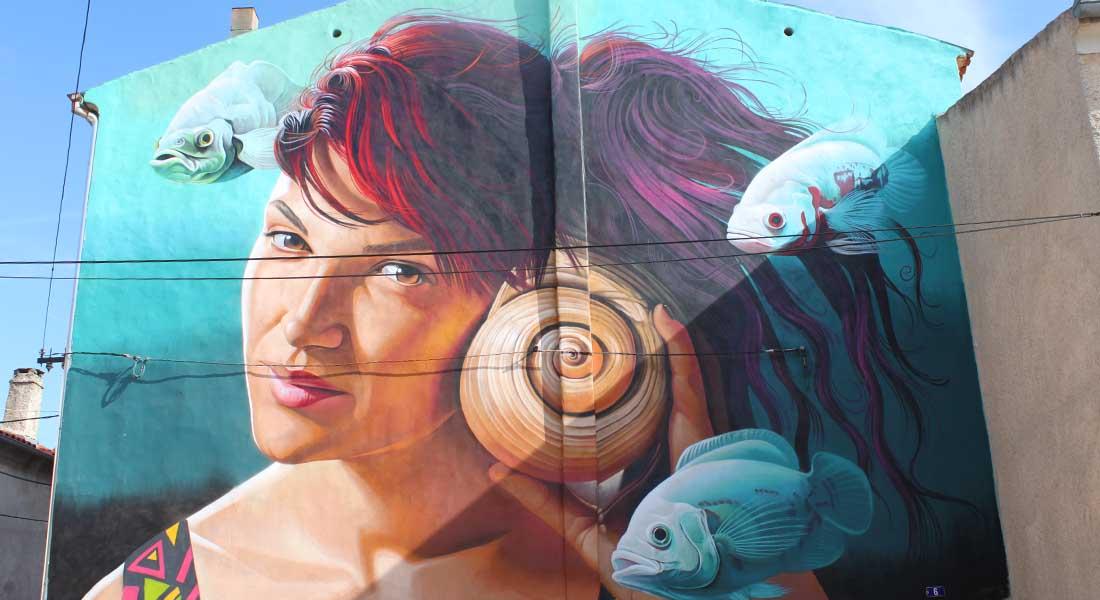 Obilazak Vodnjana, mural